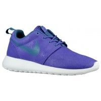 Nike Roshe One Print Femmes chaussures de course violet/blanc FGZ728
