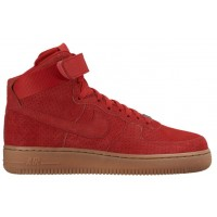 Nike Air Force 1 High Suede Femmes baskets rouge/marron FMZ849