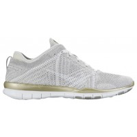 Nike Free TR 5 Flyknit Femmes chaussures gris/blanc PHA563