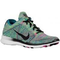 Nike Free TR 5 Flyknit Femmes sneakers vert clair/rose WKX594
