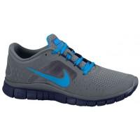 Nike Free Run + 3 Femmes chaussures de sport gris/bleu clair SFU680