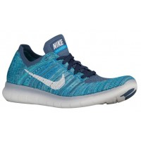 Nike Free RN Flyknit Femmes chaussures de sport bleu clair/gris QIM270
