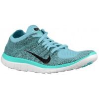 Nike Free 4.0 Flyknit Femmes baskets bleu clair/vert clair QRW146