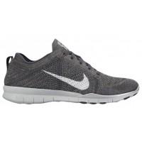 Nike Free TR 5 Flyknit Femmes chaussures de sport gris/argenté KOT377