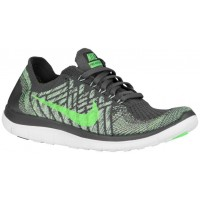 Nike Free 4.0 Flyknit Femmes chaussures de course gris/vert clair SYR909