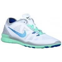 Nike Free 5.0 TR Fit 5 Breathe Femmes chaussures de sport blanc/gris UPR656