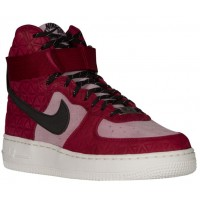 Nike Air Force 1 High Premium Suede Femmes chaussures de sport brillantes rouges/violet POT438