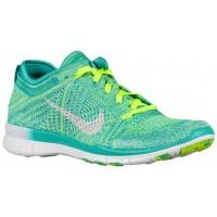 Nike Free TR 5 Flyknit Femmes chaussures de course bleu clair/vert clair HRL560