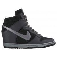 Nike Dunk Sky Hi Femmes chaussures de sport noir/gris MKS924