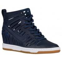 Nike Dunk Sky Hi Femmes chaussures de course bleu marin/blanc YCS853
