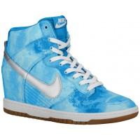 Nike Dunk Sky Hi Femmes baskets bleu clair/argenté URS907