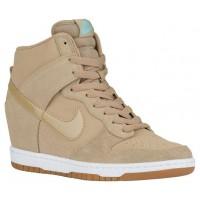 Nike Dunk Sky Hi Femmes chaussures bronzage/blanc UAA259