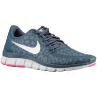 Nike Free 5.0 V4 Femmes chaussures de sport bleu marin/Orange KLB963