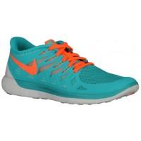 Nike Free 5.0 2014 Femmes chaussures de sport bleu clair/Orange ZHM353