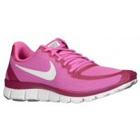 Nike Free 5.0 V4 Femmes chaussures de course rose/blanc JYC185