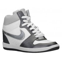 Nike Force Sky High Femmes chaussures blanc/gris ZLG578