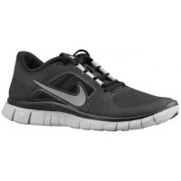 Nike Free Run + 3 Femmes chaussures noir/gris XMR376
