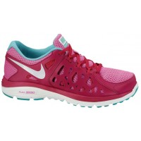 Nike Dual Fusion Run 2 Femmes chaussures rouge/rose PRV895