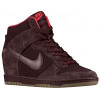 Nike Dunk Sky Hi Femmes chaussures de course bordeaux/rouge ZUU050