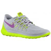 Nike Free 5.0 2014 Femmes chaussures gris/vert clair GNQ611