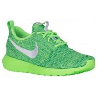 Nike Roshe One NM Flyknit Femmes baskets vert clair/blanc RXL841
