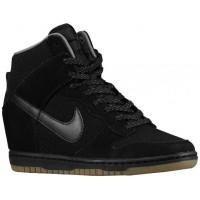 Nike Dunk Sky Hi Femmes chaussures noir/gris BQM957
