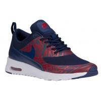 Nike Air Max Thea Femmes chaussures bleu marin/rouge URY269
