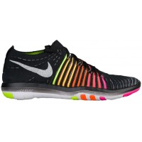 Nike Free Transform Flyknit Femmes chaussures noir/multicolore AOM043