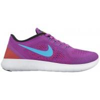Nike Free RN Femmes chaussures de course violet/noir KVO787