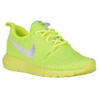 Nike Roshe One NM Flyknit Femmes chaussures de course vert clair/blanc QZA481