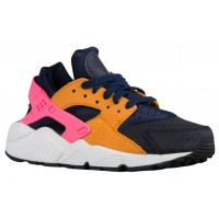 Nike Air Huarache Suede Premium Femmes sneakers bleu marin/noir HTA630
