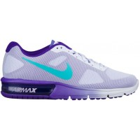 Nike Air Max Sequent Femmes sneakers violet/vert clair QNR279