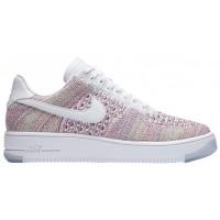 Nike Air Force 1 Low Flyknit Femmes chaussures de sport blanc/rose FSR529