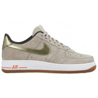 Nike Air Force 1 '07 Low Premium Suede Femmes sneakers gris/or EAX790