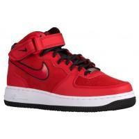 Nike Air Force 1 '07 Mid Suede Femmes chaussures de sport rouge/noir EWR449