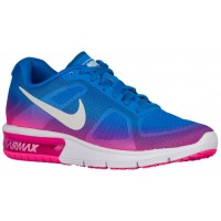 Nike Air Max Sequent Femmes baskets bleu clair/rose QOJ243