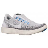 Nike Free RN Distance Femmes chaussures de sport blanc/gris ZGI064