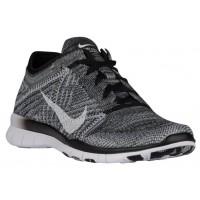Nike Free TR 5 Flyknit Femmes chaussures de course noir/gris HFC686