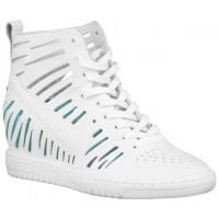 Nike Dunk Sky Hi Femmes chaussures de course blanc/vert clair XUQ807