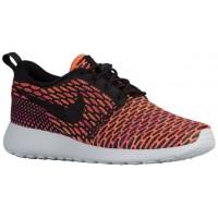 Nike Roshe One Flyknit Femmes sneakers noir/violet ZGM259