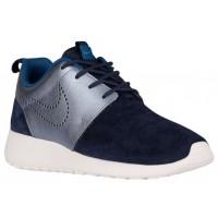 Nike Roshe One Premium Suede Femmes baskets bleu marin/gris LLL338