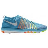 Nike Free Transform Flyknit Femmes sneakers bleu clair/blanc NBB205
