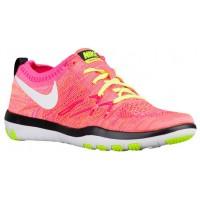 Nike Free TR Focus Flyknit Femmes chaussures de course rose/vert clair VIT506
