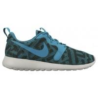 Nike Roshe One Jacquard Femmes baskets vert foncé/bleu clair YEV477