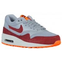 Nike Air Max 1 Ultra Essentials Femmes chaussures de sport gris/rouge SRY502