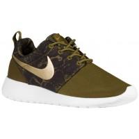 Nike Roshe One Print Femmes chaussures de sport olive verte/or OFQ619