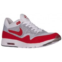 Nike Air Max 1 Ultra FlyknitFemmes chaussures de course blanc/rouge EKC054