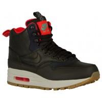 Nike Air Max 1 Mid Sneakerboot Femmes chaussures de sport noir/bronzage TTX076