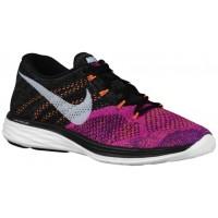 Nike Flyknit Lunar 3 Femmes chaussures de course noir/blanc BRD412