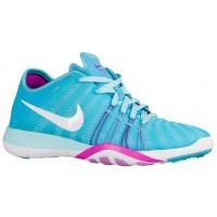 Nike Free TR 6 Femmes chaussures bleu clair/blanc SSH305